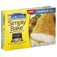 Gorton's haddock.. way smaller than package photo
