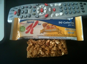 Grrr to Kellogg's for making us think we're going to get a much bigger bar than we do!